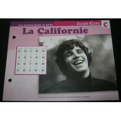 """FICHE FASCICULE """" PAROLES DE CHANSONS """" JULIEN CLERC la Californie 1969"""