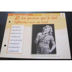 """FICHE FASCICULE """" PAROLES DE CHANSONS """" NICOLE CROISILLE il ne pense qu'à lui (parlez-moi de lui) 1973"""