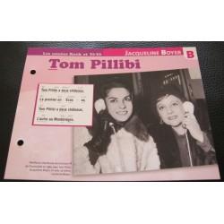 """FICHE FASCICULE """" PAROLES DE CHANSONS """" JACQUELINE BOYER Tom pillibi 1960"""