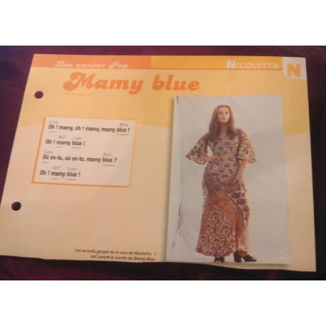 """FICHE FASCICULE """" PAROLES DE CHANSONS """" NICOLETTA mamy blue 1971"""