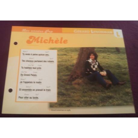 """FICHE FASCICULE """" PAROLES DE CHANSONS """" GERARD LENORMAN Michèle 1976"""
