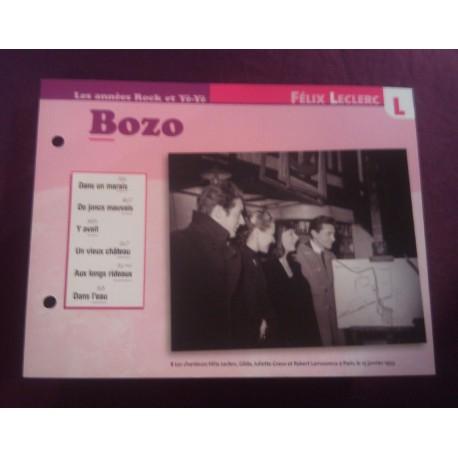 """FICHE FASCICULE """" PAROLES DE CHANSONS """" FELIX LECLERC bozo 1951"""