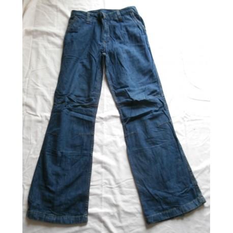 Pantalon femme jeans couleur bleu stone mode évasé coupe bootcut Taille 38 neuf
