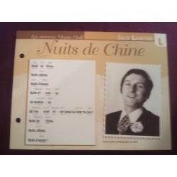 """FICHE FASCICULE """" PAROLES DE CHANSONS """" JACK LANTIER nuits de chine 1922"""