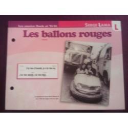 """FICHE FASCICULE """" PAROLES DE CHANSONS """" SERGE LAMA les ballons rouges 1967"""