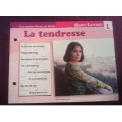 FICHE FASCICULE PAROLES DE CHANSONS MARIE LAFORET la tendresse 1963 collection occasion TBE