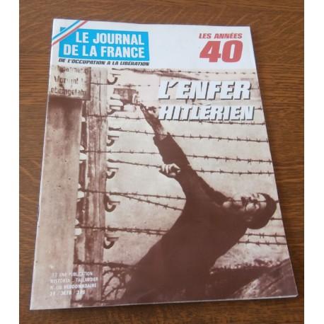 """ANCIEN MAGAZINE COLLECTION """"LE JOURNAL DE LA FRANCE:LES ANNÉES 40 """"HEBDOMADAIRE HISTORIA n°178"""