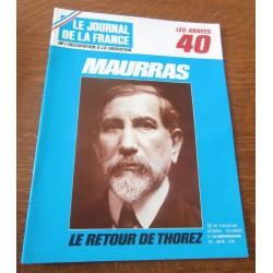 """ANCIEN MAGAZINE COLLECTION """"LE JOURNAL DE LA FRANCE:LES ANNÉES 40 """"HEBDOMADAIRE HISTORIA n°180"""