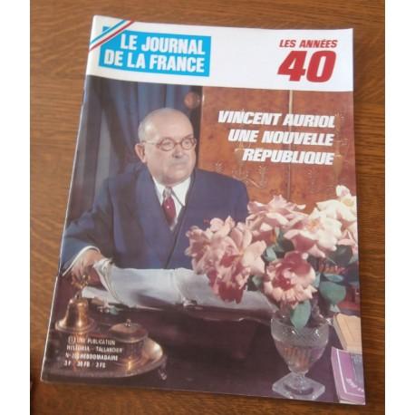 """ANCIEN MAGAZINE COLLECTION """"LE JOURNAL DE LA FRANCE:LES ANNÉES 40 """"HEBDOMADAIRE HISTORIA n°208"""