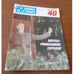 """ANCIEN MAGAZINE COLLECTION """"LE JOURNAL DE LA FRANCE:LES ANNÉES 40 """"HEBDOMADAIRE HISTORIA n°206"""