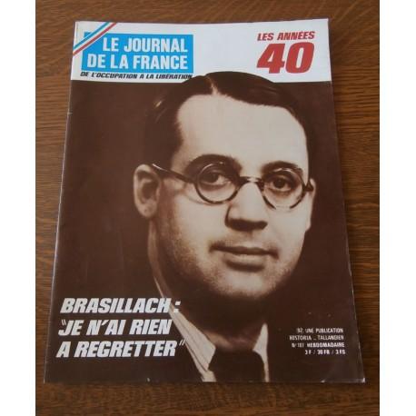 """ANCIEN MAGAZINE COLLECTION """"LE JOURNAL DE LA FRANCE:LES ANNÉES 40 """"HEBDOMADAIRE HISTORIA n°187"""