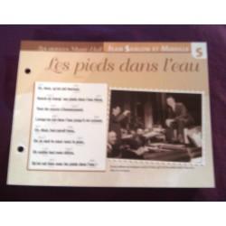 """FICHE FASCICULE """"PAROLES DE CHANSONS"""" JEAN SABLON ET MIREILLE les pieds dans l'eau 1933 collection occasion"""