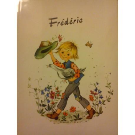"""prenom sur faience a encadré ou poser """" FREDERIC """" neuf"""