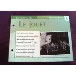 """FICHE FASCICULE """"PAROLES DE CHANSONS"""" BERTHE SYLVA le jouet 1947"""