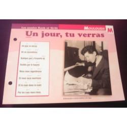 """FICHE FASCICULE """"PAROLES DE CHANSONS"""" MOULOUDJI un jour tu verras 1954"""