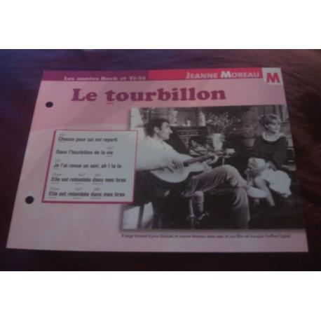 """FICHE FASCICULE """"PAROLES DE CHANSONS"""" JEANNE MOREAU le tourbillon 1962"""