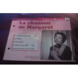 """FICHE FASCICULE """"PAROLES DE CHANSONS"""" GERMAINE MONTERO la chanson de Margaret 1957"""