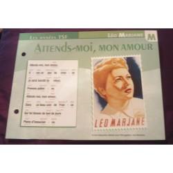 """FICHE FASCICULE """"PAROLES DE CHANSONS"""" LEO MARJANE attend moi mon amour 1941"""