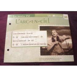 """FICHE FASCICULE """"PAROLES DE CHANSONS"""" LEO MARJANE l'arc en ciel 1941"""