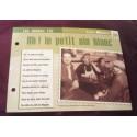 """FICHE FASCICULE """"PAROLES DE CHANSONS"""" LINA MARGY ah! le petit vin blanc 1943"""