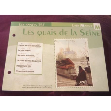 """FICHE FASCICULE """"PAROLES DE CHANSONS"""" LINA MARGY les quais de la seine 1947"""