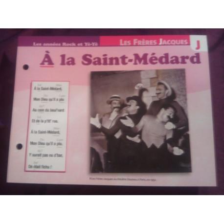 """FICHE FASCICULE """"PAROLES DE CHANSONS"""" LES FRÈRES JACQUES a la saint médard 1953"""