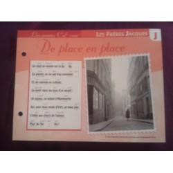 """FICHE FASCICULE """"PAROLES DE CHANSONS"""" LES FRÈRES JACQUES de place en place 1905"""