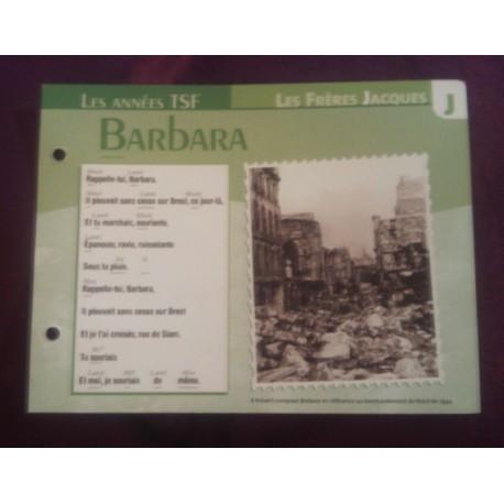 """FICHE FASCICULE """"PAROLES DE CHANSONS"""" LES FRÈRES JACQUES Barbara 1949"""