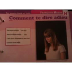 """FICHE FASCICULE """"PAROLES DE CHANSONS"""" FRANÇOISE HARDY comment te dire adieu 1968"""