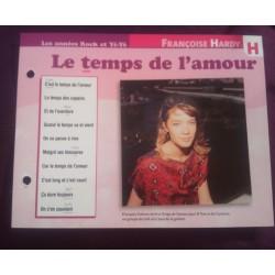 """FICHE FASCICULE """"PAROLES DE CHANSONS"""" FRANÇOISE HARDY le temps de l'amour 1962 collection occasion"""