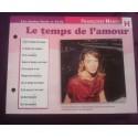 """FICHE FASCICULE """"PAROLES DE CHANSONS"""" FRANÇOISE HARDY le temps de l'amour 1962"""