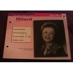 """FICHE FASCICULE """"PAROLES DE CHANSONS"""" EDITH PIAF milord 1959 collection occasion"""