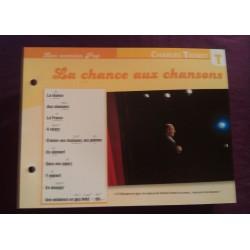"""FICHE FASCICULE """"PAROLES DE CHANSONS"""" CHARLES TRENET la chance aux chansons 1971"""