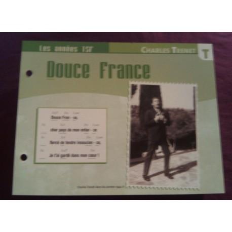 """FICHE FASCICULE """"PAROLES DE CHANSONS"""" CHARLES TRENET douce France 1943"""