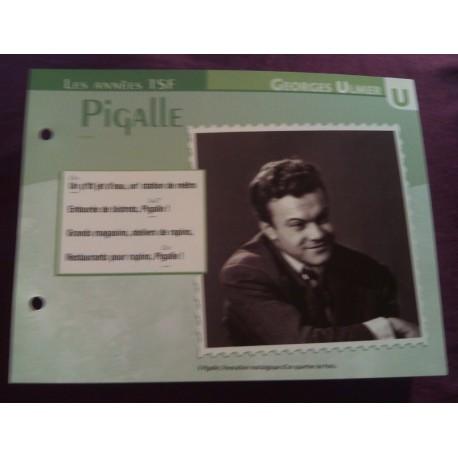 """FICHE FASCICULE """"PAROLES DE CHANSONS"""" GEORGES ULMER Pigalle 1946"""
