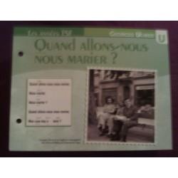 """FICHE FASCICULE """"PAROLES DE CHANSONS"""" GEORGES ULMER quand allons nous nous marier? 1944"""
