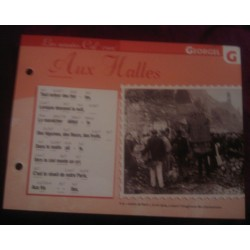 """FICHE FASCICULE """"PAROLES DE CHANSONS"""" GEORGEL aux halles 1917"""