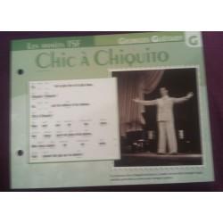 """FICHE FASCICULE """"PAROLES DE CHANSONS"""" GEORGES GUETARY chic a chiquito 1944"""