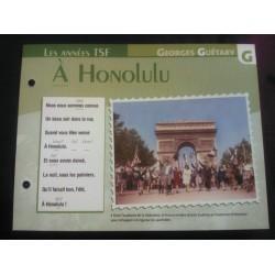 """FICHE FASCICULE """"PAROLES DE CHANSONS"""" GEORGES GUETARY a Honolulu 1945"""