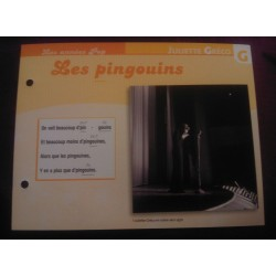 """FICHE FASCICULE """"PAROLES DE CHANSONS"""" JULIETTE GRECO les pingouins"""