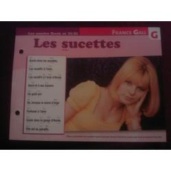 """FICHE FASCICULE """"PAROLES DE CHANSONS"""" FRANCE GALL les sucettes"""