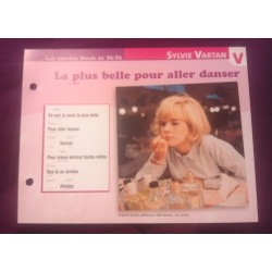 "FICHE FASCICULE ""PAROLES DE CHANSONS"" SYLVIE VARTAN la plus belle pour aller danser 1964 collection occasion"