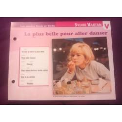 """FICHE FASCICULE """"PAROLES DE CHANSONS"""" SYLVIE VARTAN la plus belle pour aller danser 1964"""