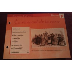 "FICHE FASCICULE ""PAROLES DE CHANSONS"" PAULUS en revenant de la revue 1886 collection occasion"