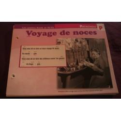 """FICHE FASCICULE """"PAROLES DE CHANSONS"""" PATACHOU voyage de noces 1961"""