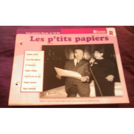 """FICHE FASCICULE """"PAROLES DE CHANSONS"""" RÉGINE les p'tits papiers 1965"""