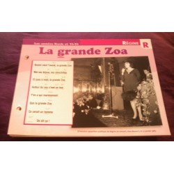 "FICHE FASCICULE ""PAROLES DE CHANSONS"" RÉGINE la grande zoa 1966 collection occasion"