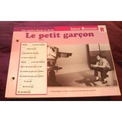 """FICHE FASCICULE """"PAROLES DE CHANSONS"""" SERGE REGIANI le petit garçon 1967 collection occasion"""