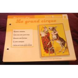 "FICHE FASCICULE ""PAROLES DE CHANSONS"" SERGE REGIANI le grand cirque 1977 collection occasion"