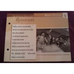 """FICHE FASCICULE """"PAROLES DE CHANSONS"""" SAINT GRANIER Ramona 1927"""